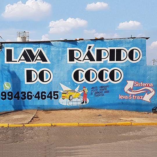 Logotipo Lava Rápido Coco